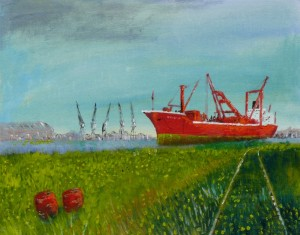 Barry Docks. An oil painting I did a few years ago.