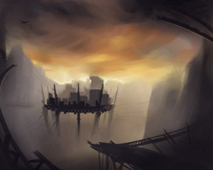 Unattributed artwork from Chasm City's Reverbnation homepage Looks like a scene from within the chasm.