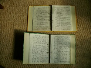 Sample pages from the two books, written between 1979 - 1982 and 1983 - 1984 respectively.